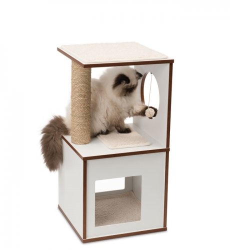 Vesper Cat Furniture V-Box Small White