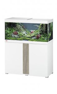 Eheim Vivaline LED 180 Aquarium with Cabinet White with Grey Oak Panel