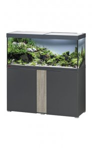 Eheim Vivaline LED 240 Aquarium with Cabinet Anthracite with Oak Grey Panel