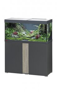 Eheim Vivaline LED 180 Aquarium with Cabinet Anthracite with Oak Grey Panel