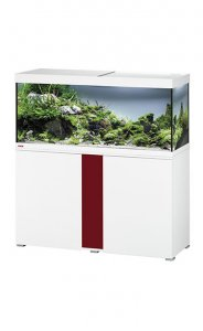 Eheim Vivaline LED 240 Aquarium with Cabinet White with Bordeaux Panel