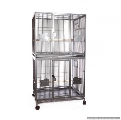 Rainforest Double Parrot Cage Antique