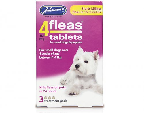 Johnsons 4Fleas Tablets for Puppies & Small Dogs - 3 Pack