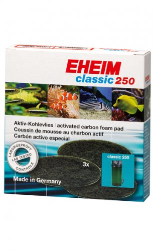 Eheim 2213 Classic 250 Activated Carbon Foam Filter Pads