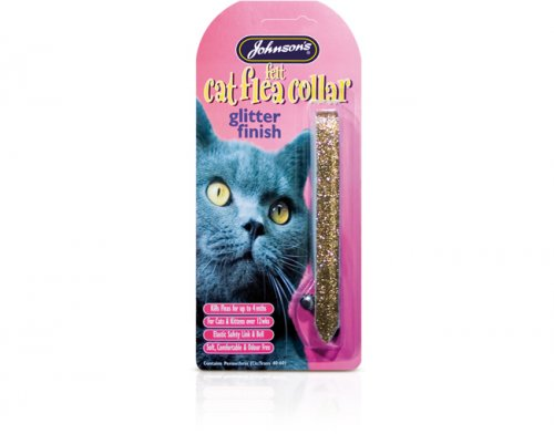 Johnsons Felt Glitter Cat Flea Collar