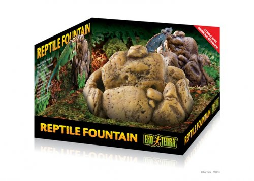 Exo Terra Reptile Fountain Water Dish with Pump