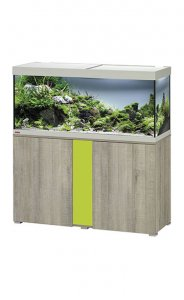 Eheim Vivaline LED 240 Aquarium with Cabinet Oak Grey with Lemon Panel