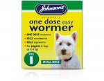 Johnsons One Dose Wormer Small Dogs& Puppies