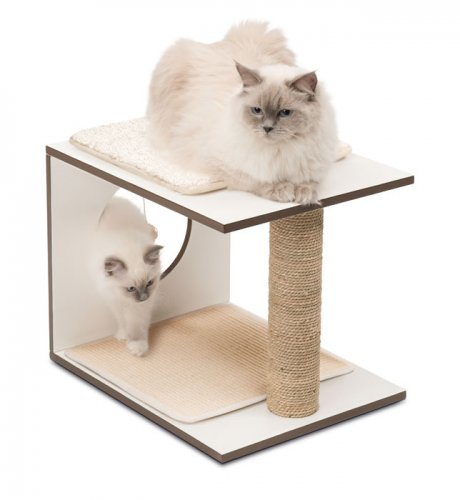 Vesper Cat Furniture V-Stool White