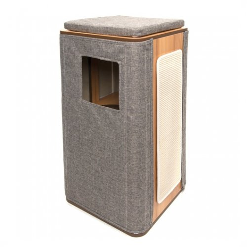 Vesper Cat Furniture V-Cubo Tower Stone