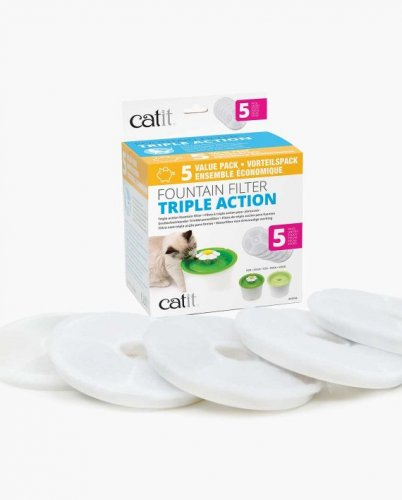Catit Fountain Filter Triple Action 5 Pack