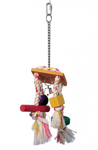Living World Junglewood Rope Chime Bird Toy