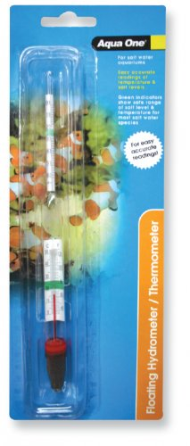 Aqua One Glass Hydrometer / Thermometer
