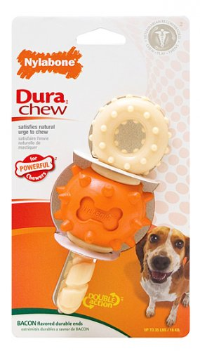 Nylabone Dura Chew Spinning Double Action Chew Wolf