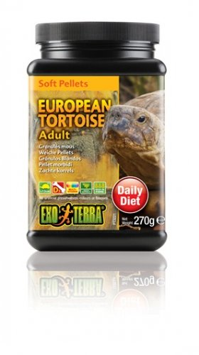 Exo Terra Soft Pellets Adult European Tortoise Food 270g