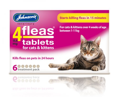 Johnsons 4Fleas Tablets for Cats & Kittens - 6 Pack