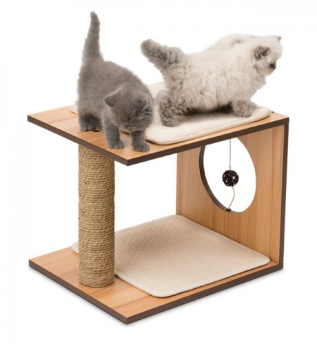 Vesper Cat Furniture V-Stool Walnut