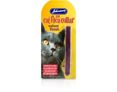 Johnsons Felt Cat Flea Collar Luxury Velour Finish