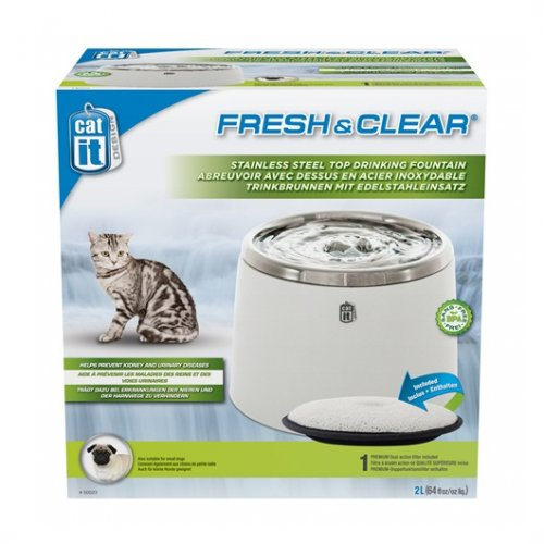 CatIt Fresh & Clear Stainless Steel Fountain