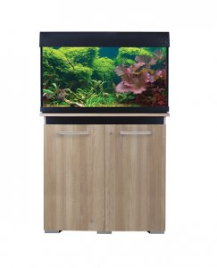 AquaOne AquaVogue 135 Aquarium & Cabinet Black & Nash Oak