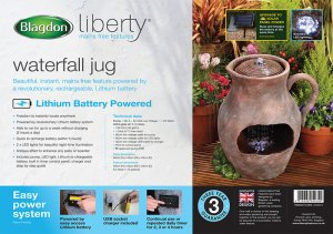 Blagdon Liberty Waterfall Jug Feature