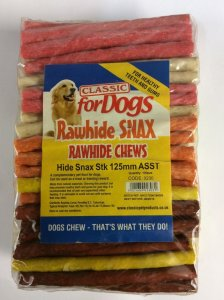 Rawhide Snax Chews 125mm Sticks x100