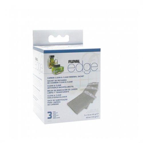 Fluval Edge Carbon Clean And Clear Sachet 3 Pack