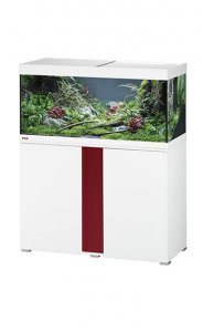 Eheim Vivaline LED 180 Aquarium with Cabinet White with Bordeaux Panel