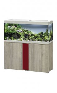 Eheim Vivaline LED 240 Aquarium with Cabinet Oak Grey with Bordeaux Panel