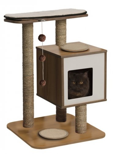 Vesper Cat Furniture, V-Base Walnut