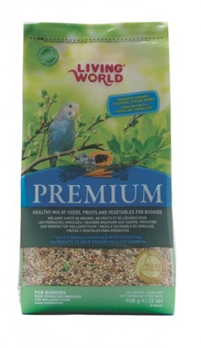 Living World Premium Food for Budgies 908g