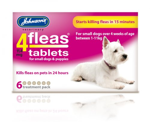 Johnsons 4Fleas Tablets for Puppies & Small Dogs - 6 Pack