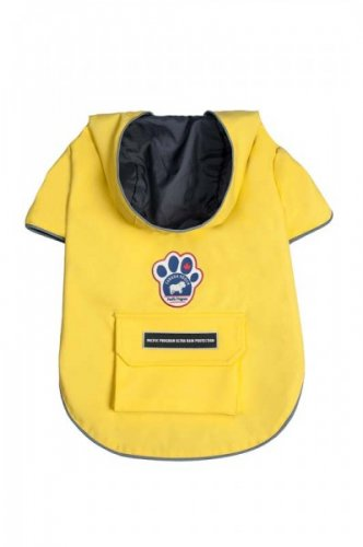 Canada Pooch Torrential Tracker Rain Coat Yellow Size 16