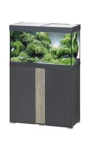 Eheim Vivaline LED 126 Aquarium with Cabinet Anthracite with Oak Grey Panel