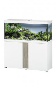 Eheim Vivaline LED 240 Aquarium with Cabinet White with Oak Grey Panel