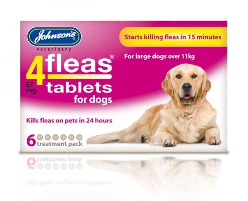 Johnsons 4Fleas Tablets for Large Dogs - 6 Pack