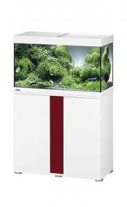 Eheim Vivaline LED 126 Aquarium with Cabinet White with Bordeaux Panel