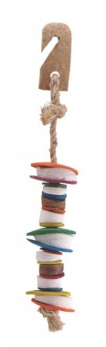 Living World Nature's Treasure Bird Toy Coco Shell Tower