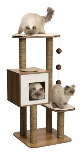 Vesper Cat Furniture, V-High Base Walnut