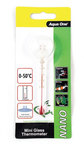 Aqua One Nano Glass Thermometer