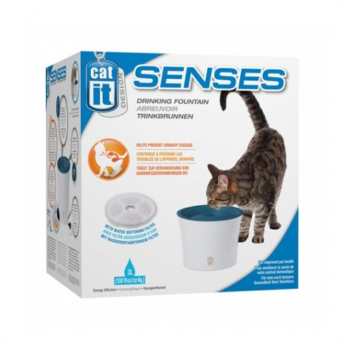 Catit Senses Water Fountain with Water Softening Filter