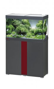 Eheim Vivaline LED 126 Aquarium with Cabinet Anthracite with Bordeaux Panel