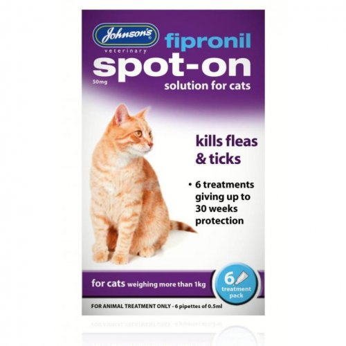 Johnsons Fipronil Spot-On for Cats 30 Week Pack