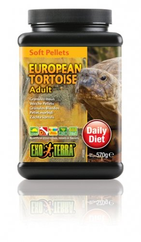 Exo Terra Soft Pellets Adult European Tortoise Food 570g