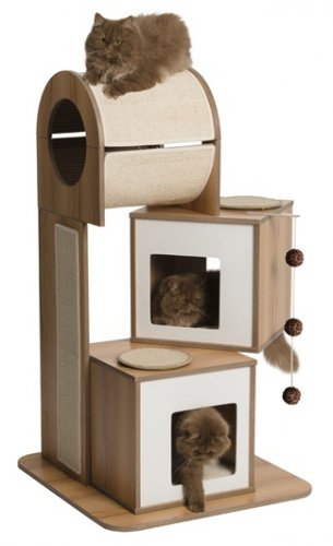 Vesper Cat Furniture, V-Tower Walnut