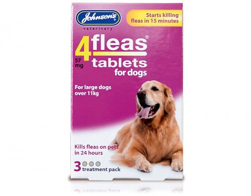 Johnsons 4Fleas Tablets for Large Dogs - 3 Pack
