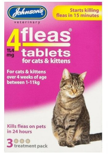 Johnsons 4Fleas Tablets for Cats & Kittens - 3 Pack