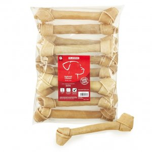 Rawhide Knot Bone 255mm (10inch) x10pack