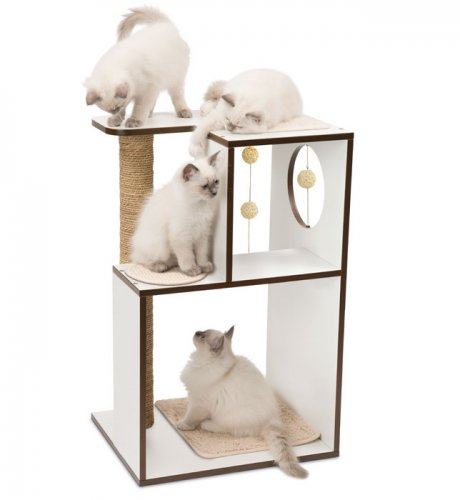 Vesper Cat Furniture V-Box Large White