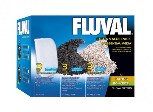 Fluval Extra Value Media Pack 105/6 and 205/6